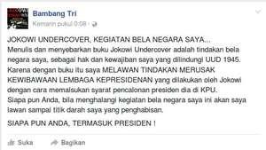 Penulis 'Jokowi Undercover' Ditangkap