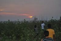sun set at the beach