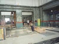 Beranda Stasiun yang Indah namun sedang direnovasi