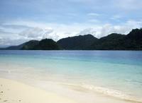 Gradasi laut di perairan Pulau Pagang (Sastri/ detikTravel)