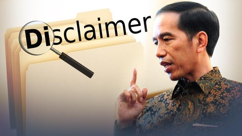 Jokowi Marah Soal Disclaimer