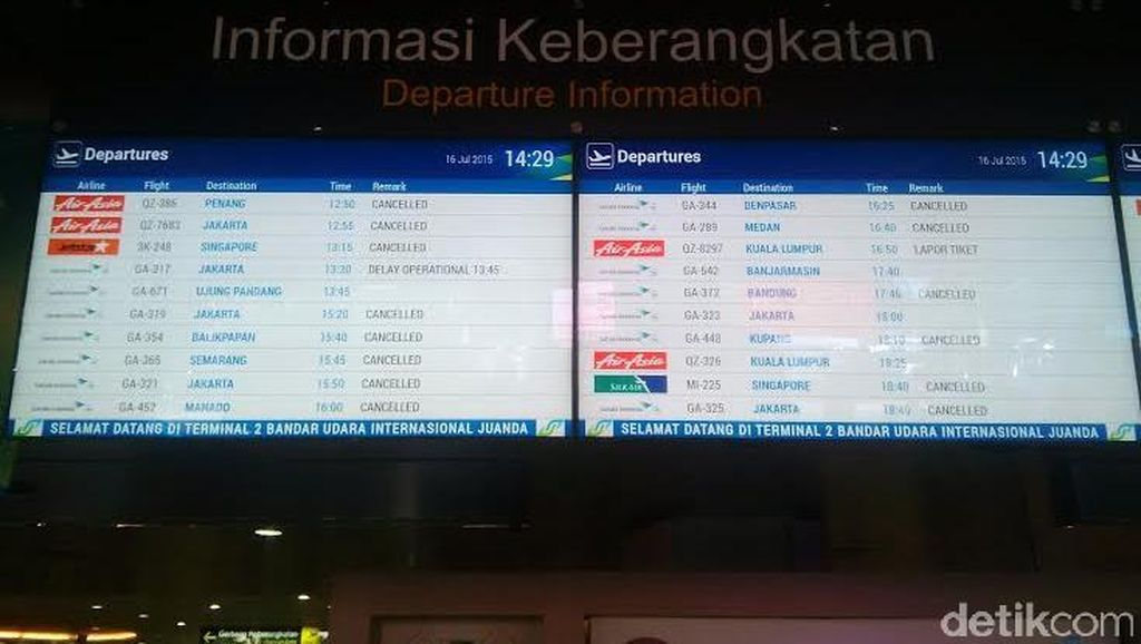 Juanda Ditutup, 2 Penerbangan Garuda Bandung-Surabaya Hari Ini Batal