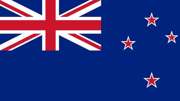 berlatar belakang biru dengan union jack di pinggir kiri serta 4 bintang merah bergaris putih desain ini sangat mirip bendera australia