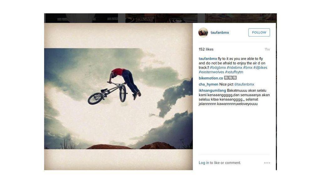 Ungkapan Terakhir Rider BMX Taufan kepada Ibunda sebelum Berlaga