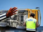 Dua Truk Terlibat Kecelakaan di Tol Cikampek, Lalu Lintas Padat