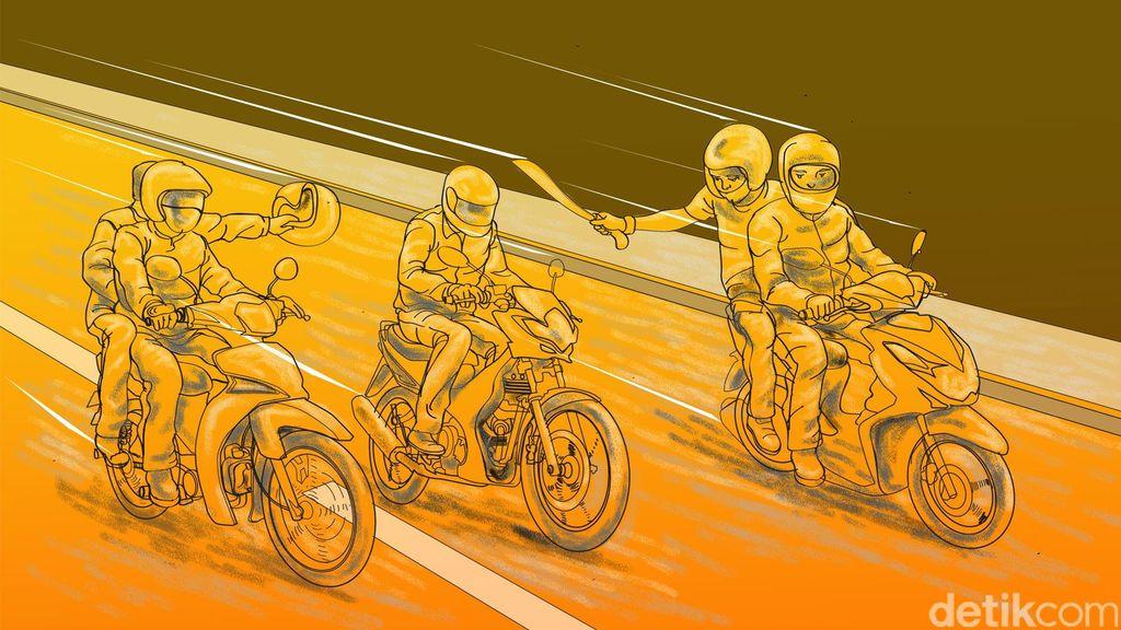 Jalan Juanda Depok Kembali Dihantui Begal, Pemotor Dibacok