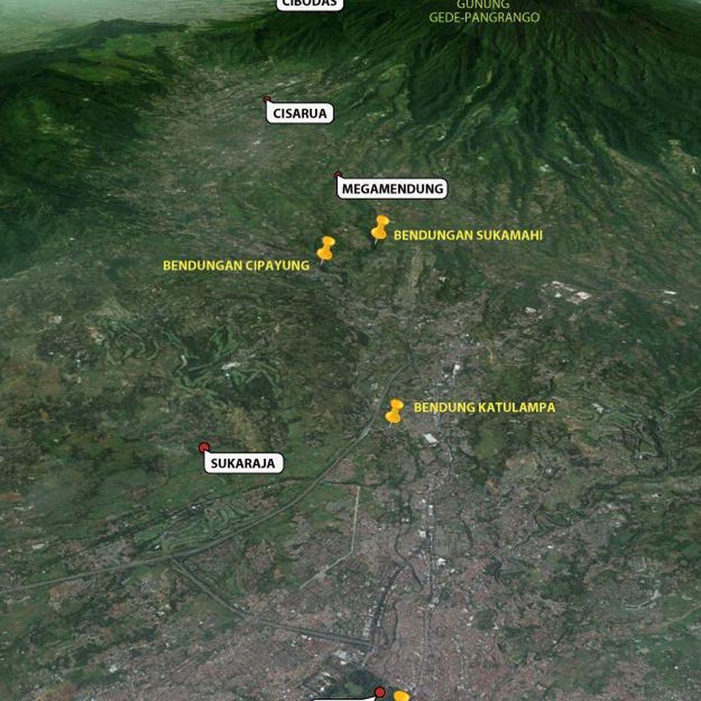 Dua Bendungan Pencegah Banjir Jakarta