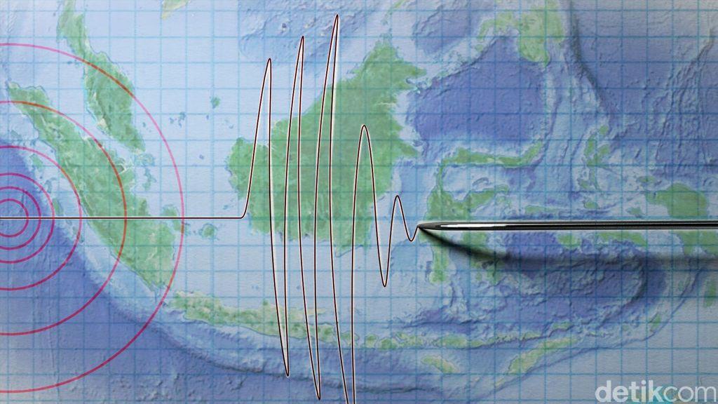 Gempa 5,1 SR Guncang Mandailingnatal, Tidak Berpotensi Tsunami