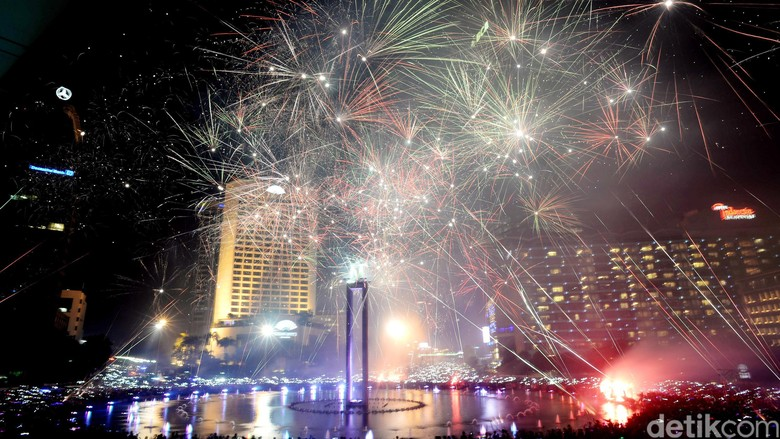Ilustrasi Tahun Baru di Jakarta (Ari Saputra/detikcom)