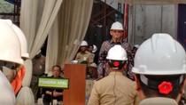 Ahok Jadi Pembina Apel Keselamatan Pekerja di Proyek Hotel Mewah