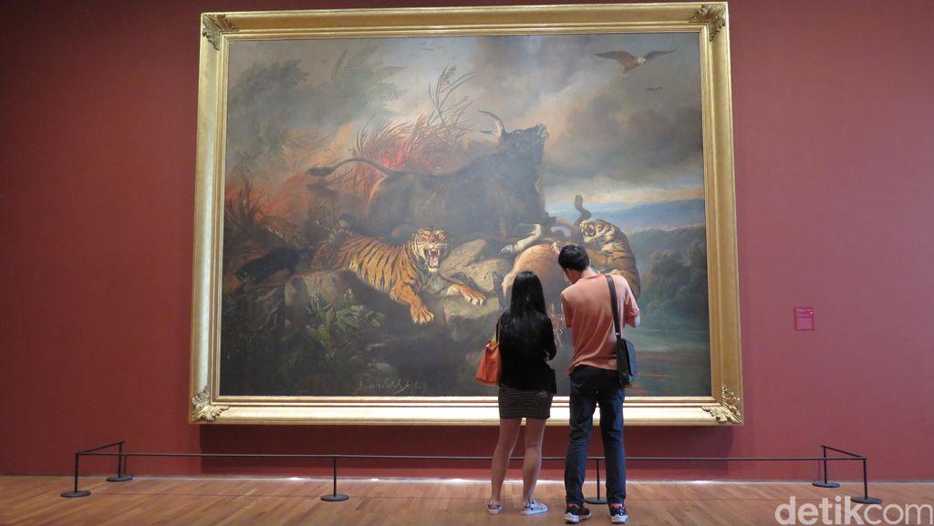 Lukisan Raksasa Raden Saleh Jadi Perhatian di Galeri Nasional Singapura