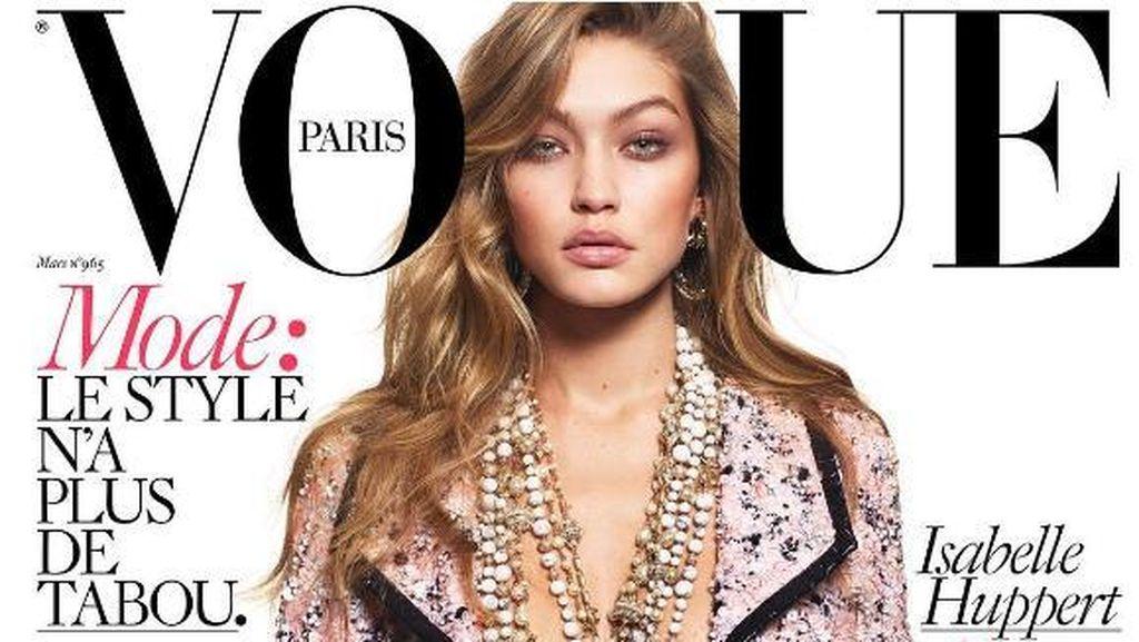 Gigi Hadid Pose Tanpa Busana di Vogue Paris
