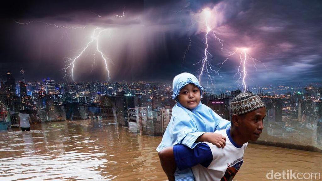 BMKG: Hujan Akan Guyur Jakarta dan Sekitarnya Hingga Pagi