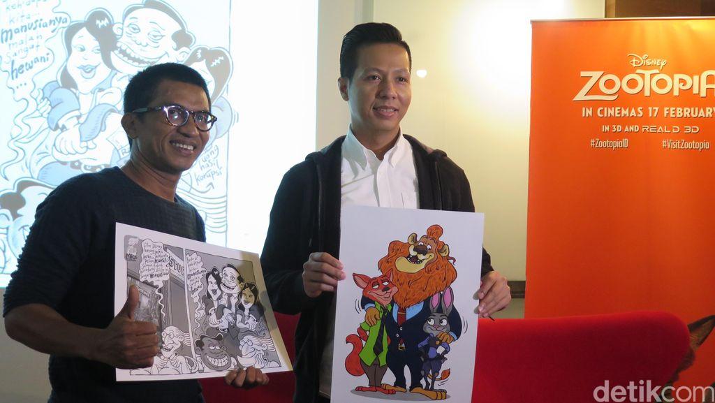 Komikus Mice Gabungkan Unsur Lokal dengan Karakter Zootopia