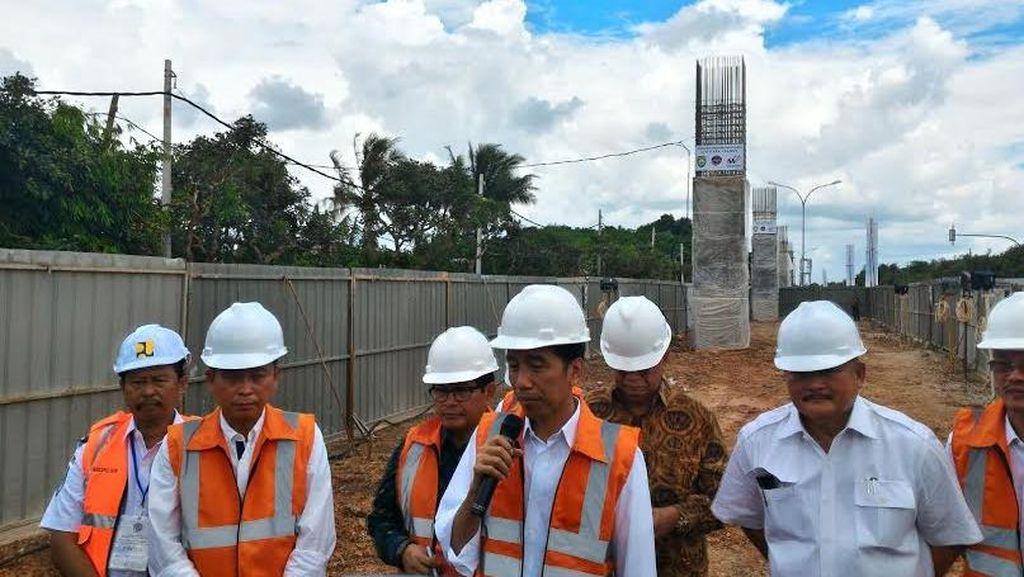 Pantau LRT Palembang, Jokowi: Gubernur Sumsel Bilang Palembang Mulai Macet