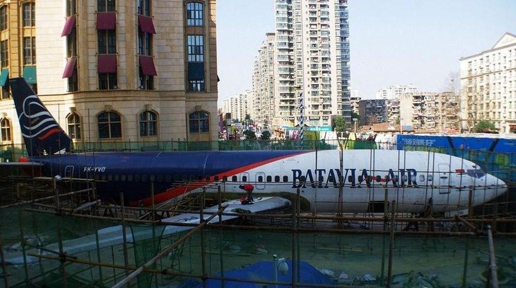 Menarik! Pesawat Batavia Air Dijadikan Restoran di China