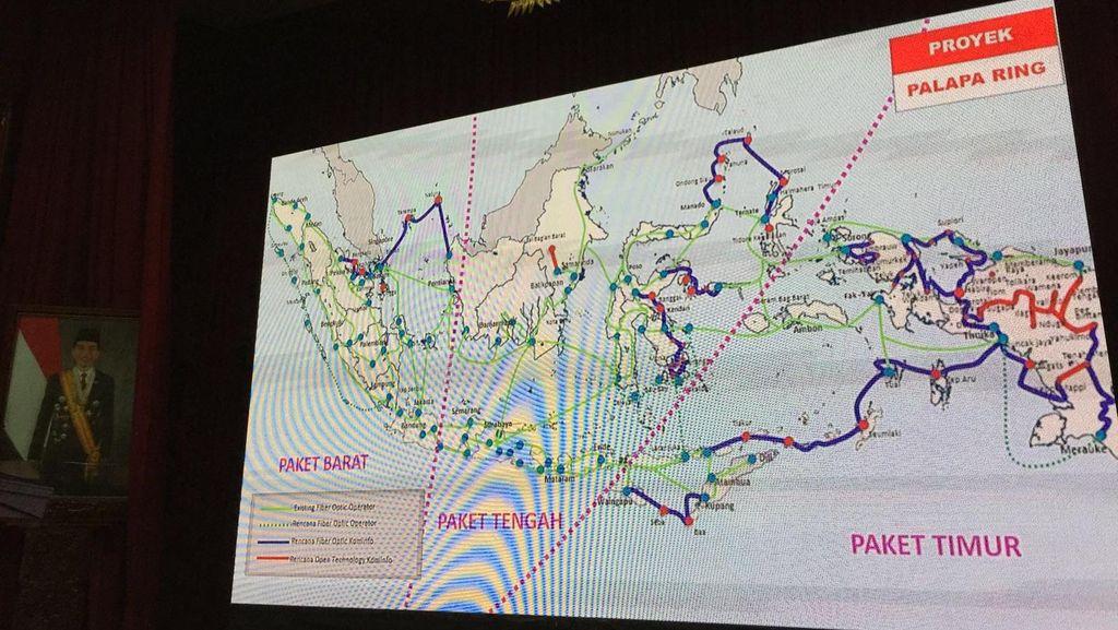 Palapa Ring Janjikan Internet Cepat di Indonesia Timur, Kapan?