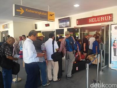 Arus Balik Gerhana, Bandara Belitung Dipenuhi Traveler