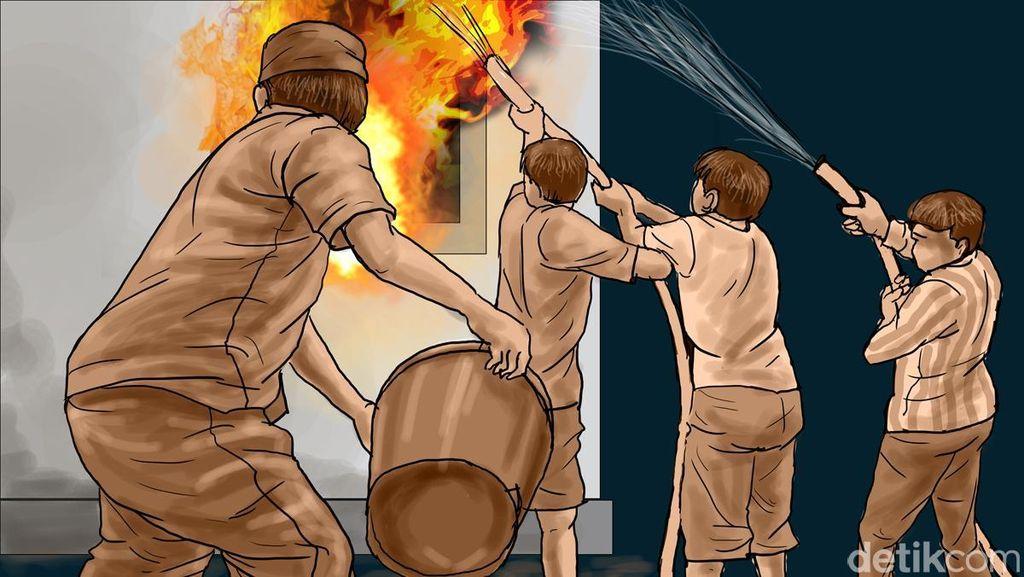 Kontrakan di Pasar Rebo Terbakar, Seorang Warga Alami Luka