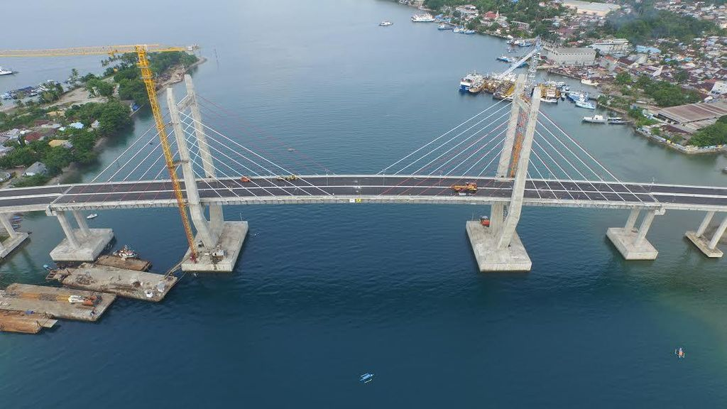 Jembatan Merah Putih di Ambon Telah Beroperasi, Panjangnya 1.140 Meter