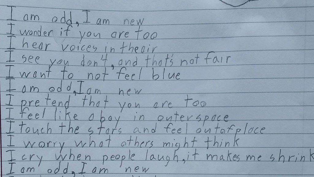 Mengharukan! Puisi Curahan Hati Bocah 10 Tahun dengan Sindrom Asperger