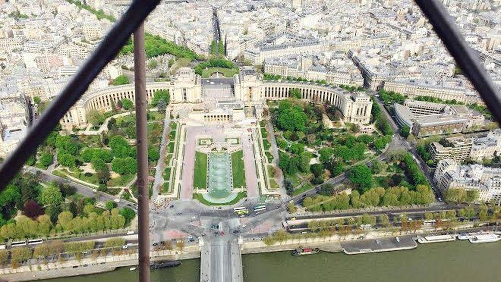 Seperti Ini Pemandangan dari Puncak Menara Eiffel