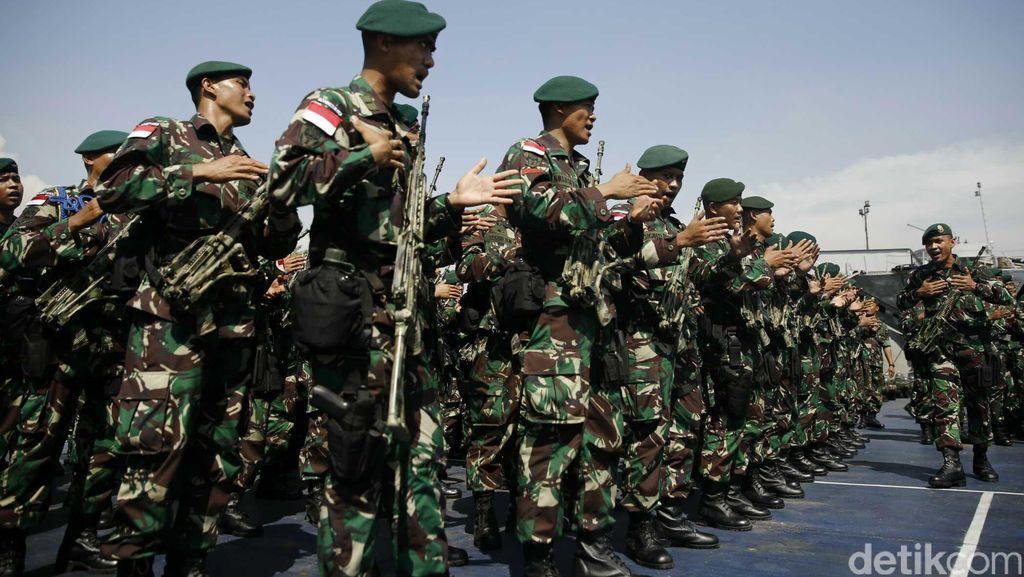 Pemberangkatan Pasukan Perbatasan RI-PNG