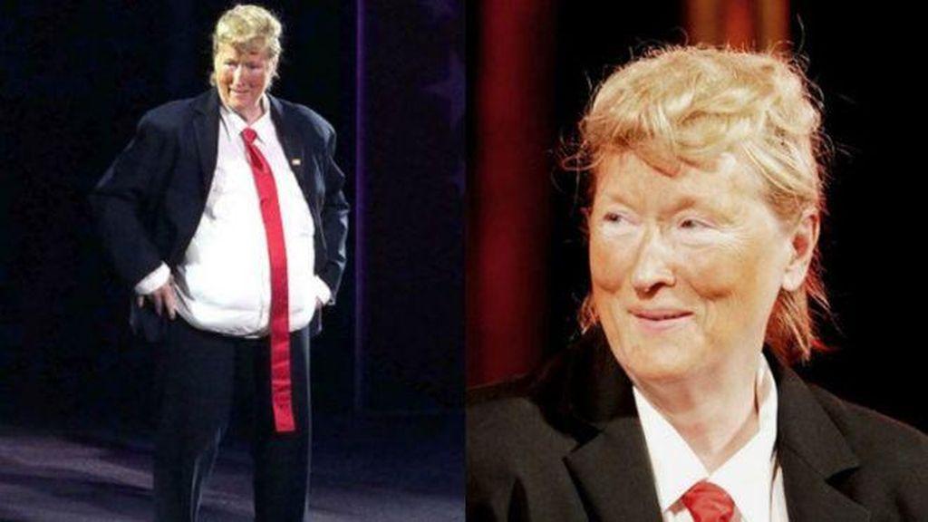 Aksi Meryl Streep Tirukan Donald Trump di Panggung Teater
