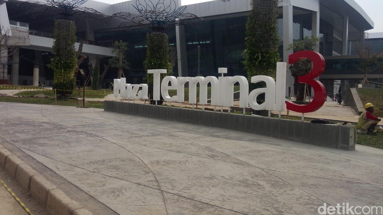 Suasana outdoor di Terminal 3 Ultimate Bandara Soekarno Hatta (Masaul/detikTravel)