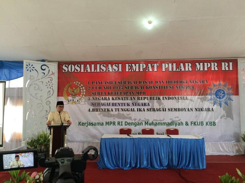 Sosialisasi 4 Pilar di Cihampelas, Ketua MPR Bicara Tenggang Rasa Umat Beragama