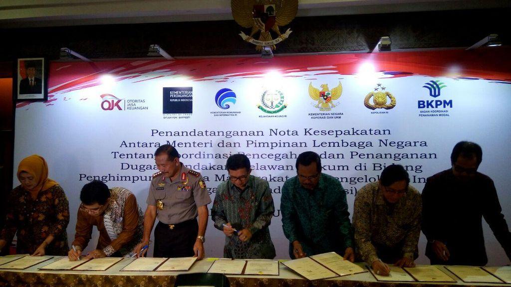 Awasi Investasi Bodong, OJK Gandeng 6 Kementerian/Lembaga