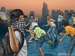 Polisi Bubarkan Tawuran NJ Mania di Koja