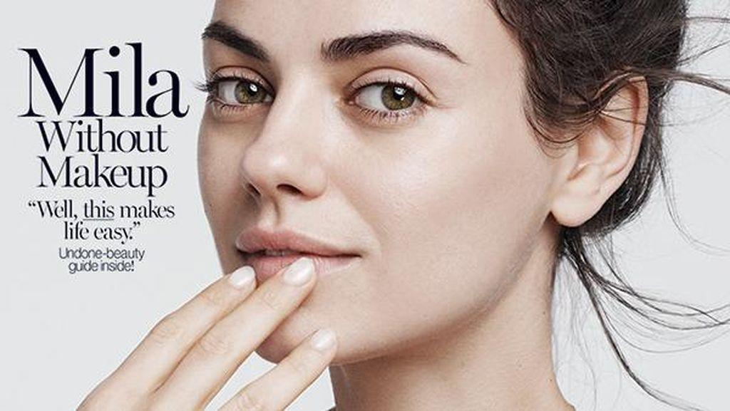 Foto: Adele Sampai Kim Kardashian, Ini Seleb Tanpa Makeup di Cover Majalah