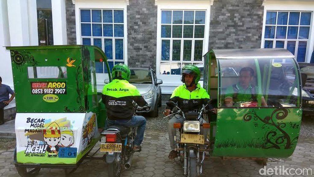 Dukung Wisata Halal, Walikota Banda Aceh Minta Abang Becak Ramah