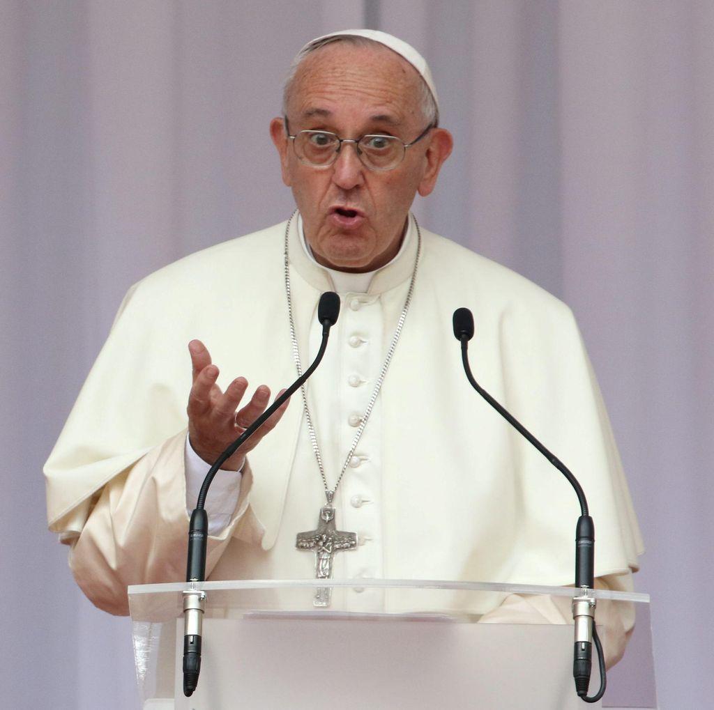 Paus Fransiskus Samakan Pos Pengungsi dengan Kamp Konsentrasi