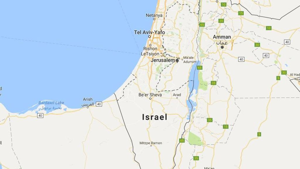 Mencari Palestina di Apple Maps & Bing Maps