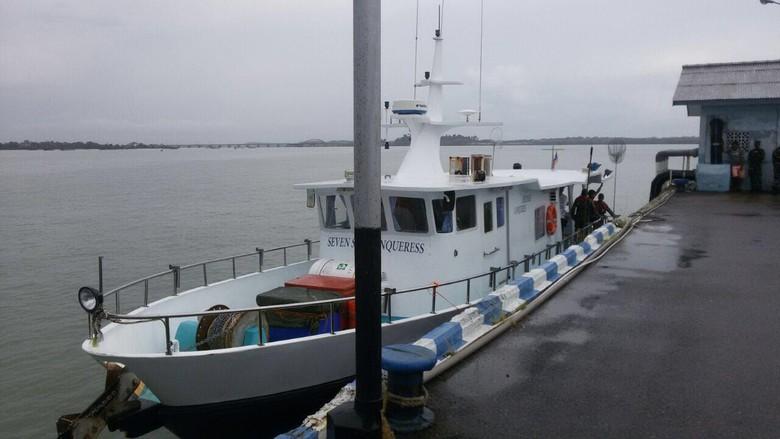 TNI AL Kembali Tangkap Kapal Pemancing Singapura di Perairan Kepri