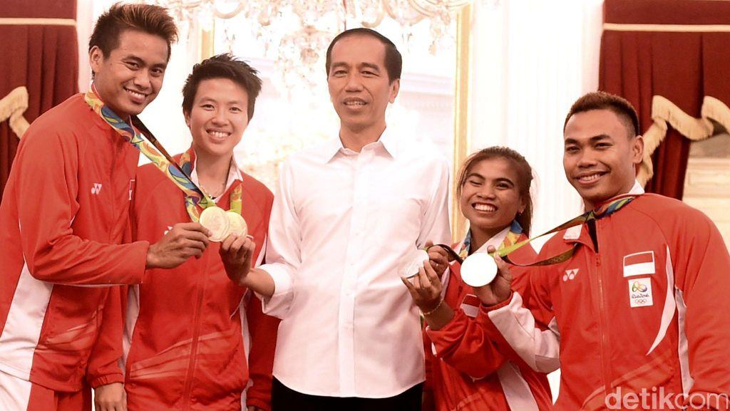 Jokowi Terima Atlet Peraih Medali Olimpiade 2016