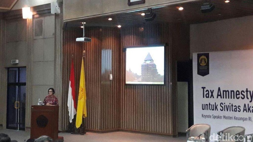 Sri Mulyani Bicara Tax Amnesty di Depan Ratusan Mahasiswa UI