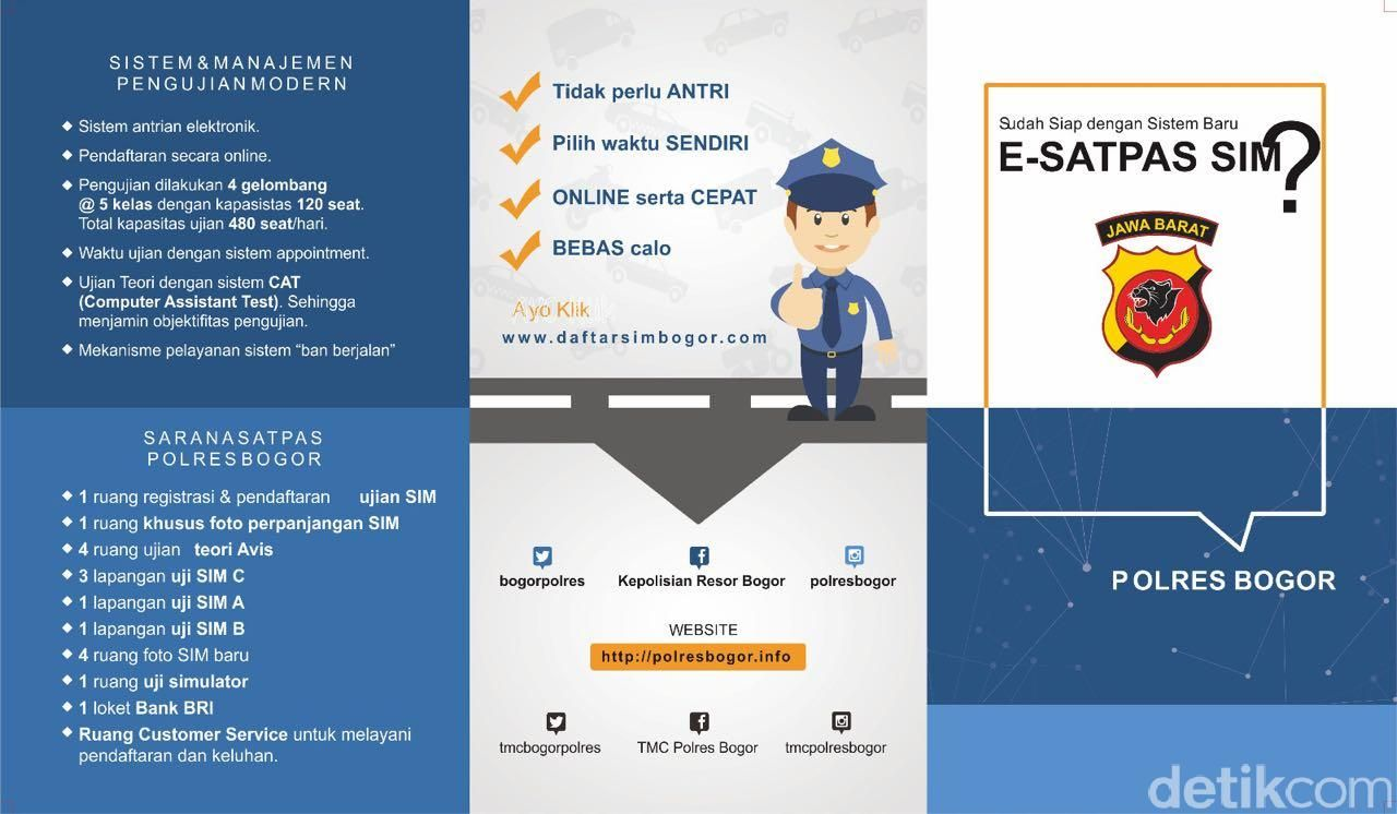 Kapolres Bogor Terapkan Pembuatan SIM Online Berbasis IT