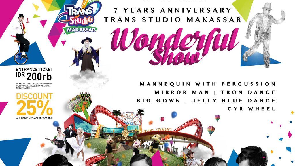 Rayakan Ulang Tahun ke-7, Trans Studio Makassar Tebar Promo & Atraksi Menarik