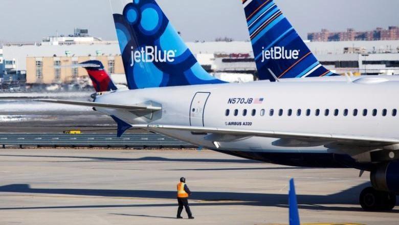 Ilustrasi maskapai JetBlue (Reuters)
