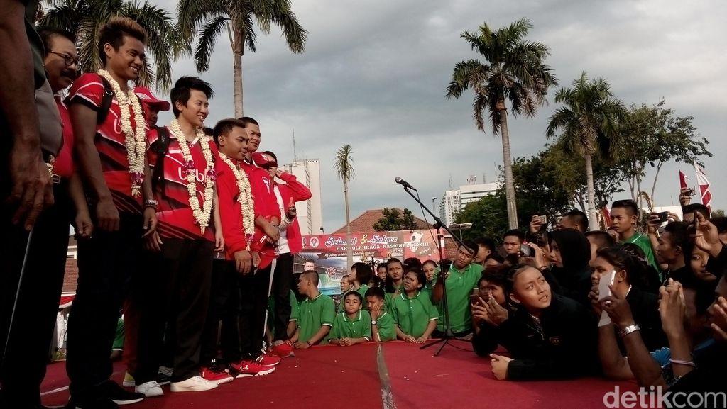 Di Haornas, Atlet-Atlet Indonesia Peraih Medali Olimpiade Semangati Atlet Muda