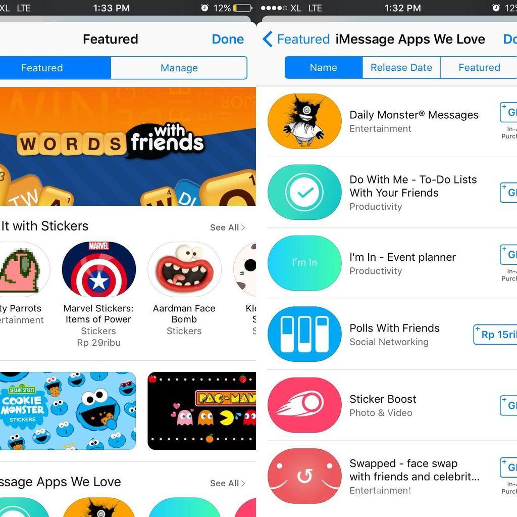 Berburu Game, Aplikasi & Stiker Seru di iMessage App Store