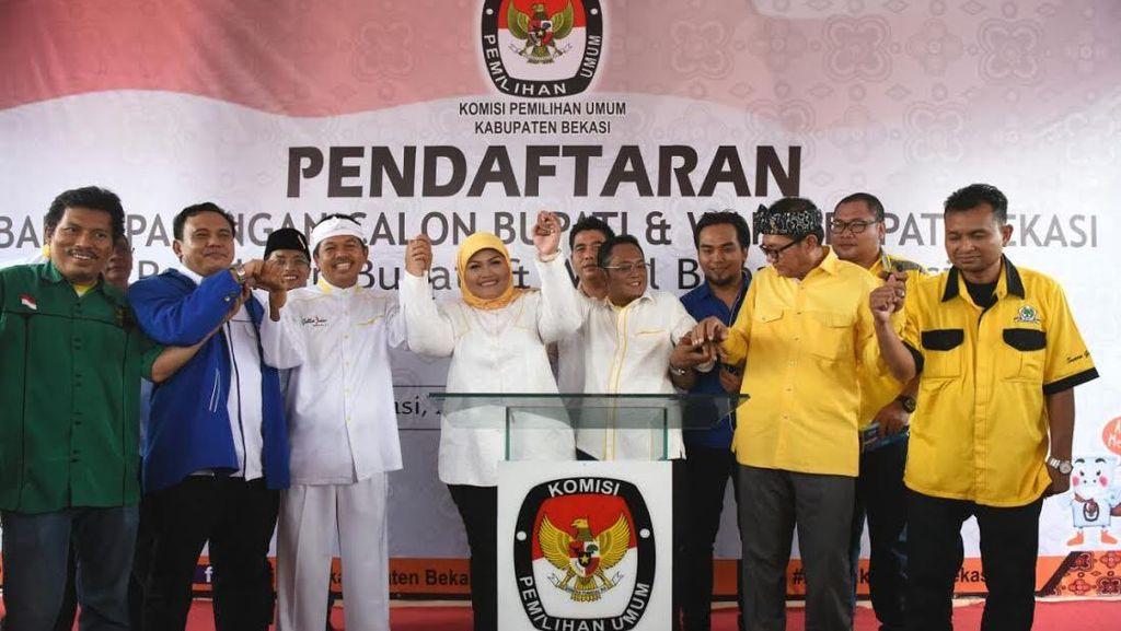 Real Count KPU 43%: Ahmad Dhani Tetap Posisi Dua di Pilkada Bekasi