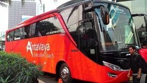 Bus AntaVaya Ikut Tebar Promo di Mega Travel Fair