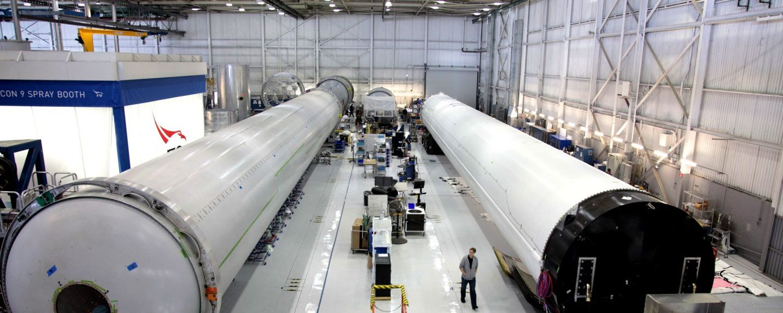 Tabung bahan bakar Roket Falcon 9 (Foto: SpaceX)