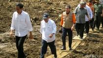Presiden Jokowi Tinjau Lokasi Banjir Bandang Garut