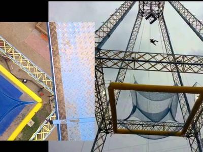 Coba Bayangkan, Uji Adrenalin Terjun Bebas dari Lantai 16 di Amerika