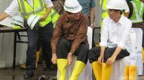 Ditemani Ahok, Jokowi Tinjau Proyek Simpang Susun Semanggi